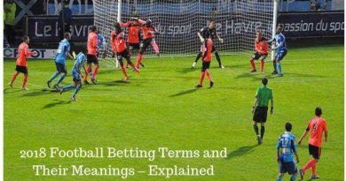 2018 Football Betting Terms and Their Meanings – Explained