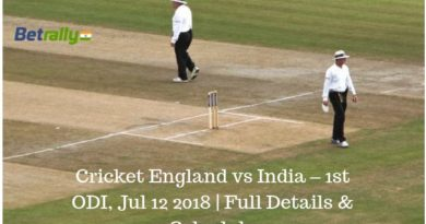 Cricket England vs India – 1st ODI, Jul 12 2018 | Full Details & Schedule