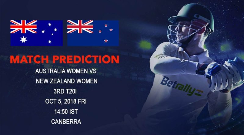 Cricket Prediction New Zealand Women Tour of Australia 2018/19 – Faltering New Zealand play for pride against the Australians – October 05, 2018