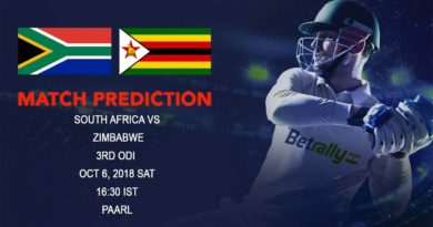 Cricket Prediction Zimbabwe Tour of South Africa – South Africa eyeing the clean sweep against Zimbabwe – October 06, 2018