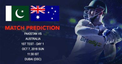 Cricket Prediction Australia Tour of United Arab Emirates 2018/19 – Favorites Pakistan take on new look Australia – October 07, 2018