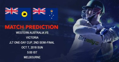 Cricket Prediction JLT One-Day Cup – Table toppers Western Australia take on Victoria in second Semi-Final – October 07, 2018