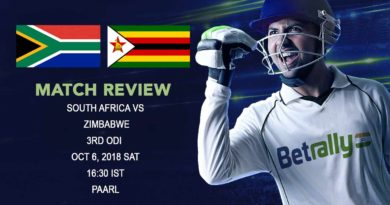 Cricket Review Zimbabwe Tour of South Africa – South Africa complete 3-0 series win over Zimbabwe – October 6, 2018