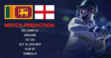 Cricket Prediction England tour of Sri Lanka 2018/19 – England take on Sri Lanka in the first ODI – October 10, 2018