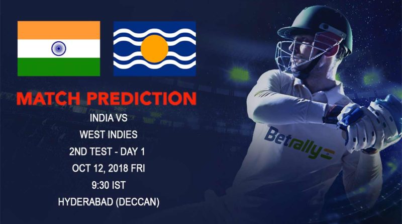 Cricket Prediction West Indies tour of India – India looks to continue their home dominance against West Indies – October 12, 2018