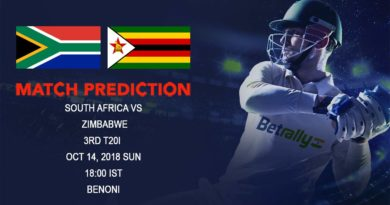 Cricket Prediction Zimbabwe tour of South Africa– South Africa looking to clean sweep Zimbabwe as they play 3rd T20 – October 14, 2018