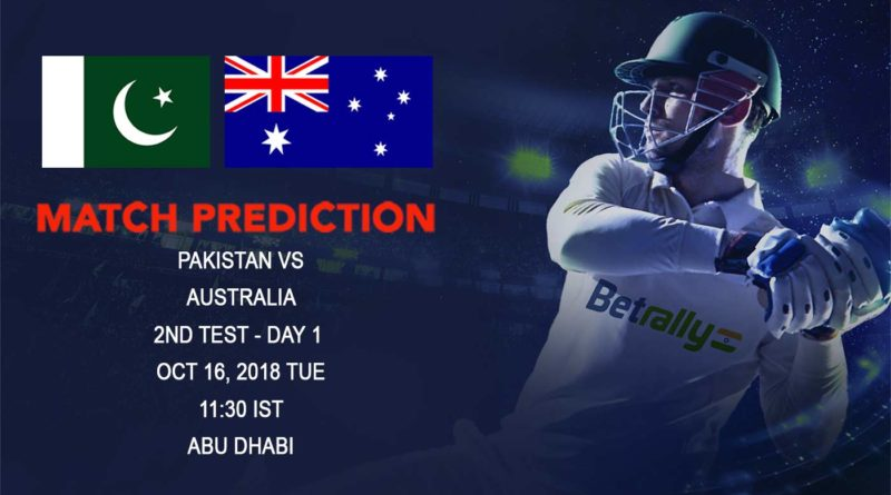 Cricket Prediction Australia tour of United Arab Emirates 2018/19 – Confident Australia look to create history against Pakistan – October 16, 2018