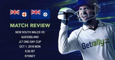 Cricket Match Review JLT One-Day Cup 2018 – New South Wales beat Queensland by 6 wickets – October 01, 2018