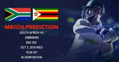 Cricket Prediction Zimbabwe Tour of South Africa – Desperate Zimbabwe looks to impress in second ODI against South Africa – October 03, 2018