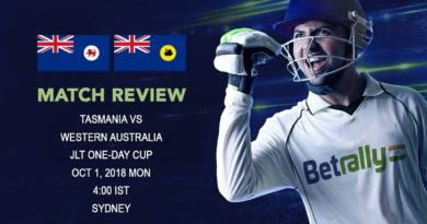 Cricket Match Review JLT One-Day Cup – Western Australia beat Tasmania by 5 wickets – October 01, 2018