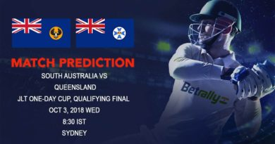 Cricket Prediction JLT One-Day Cup – Frustrated Queensland face South Australia in the Qualifying Final – October 03, 2018