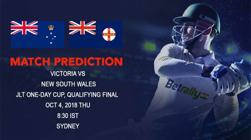 Cricket Prediction JLT One-Day Cup – Victoria take on New South Wales in the battle of equals – October 04, 2018