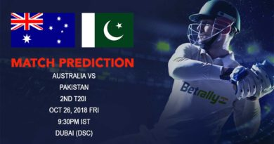 Cricket Prediction Australia tour of United Arab Emirates 2018/19 – Do or Die for Australia as they take on Pakistan in second T20 – October 26, 2018