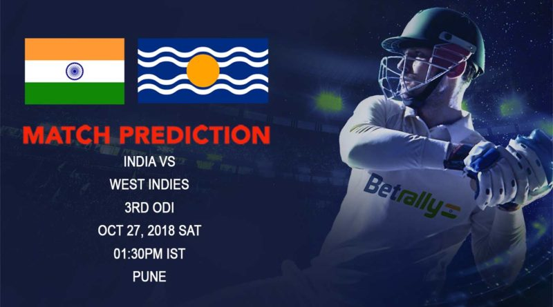 Cricket Prediction West Indies tour of India – Impressive West Indies look to go one step further against India in third ODI – October 27, 2018
