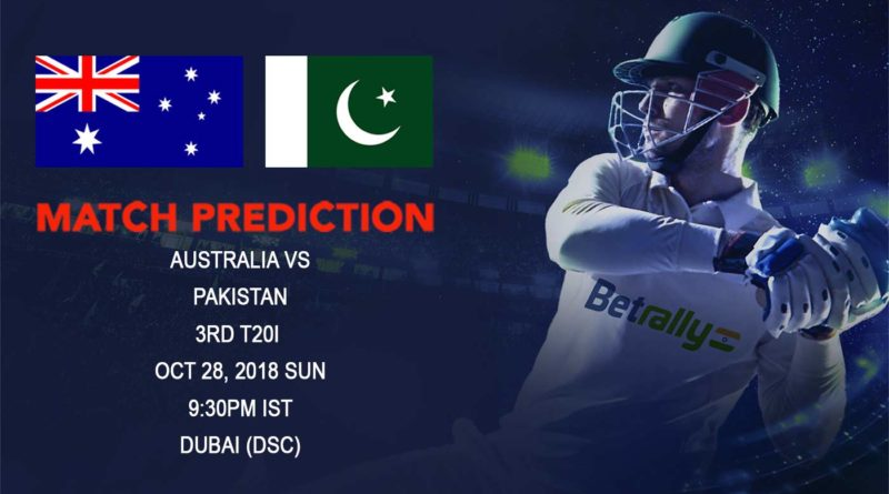 Cricket Prediction Australia tour of United Arab Emirates 2018/19 – Pakistan look to clean sweep Australia – October 28, 2018
