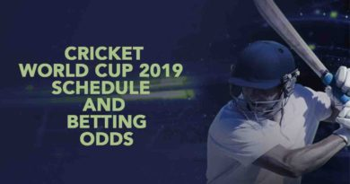 Cricket World Cup 2019 – Schedule and Betting Odds