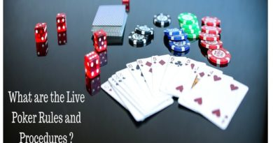 What are the Live Poker Rules and Procedures