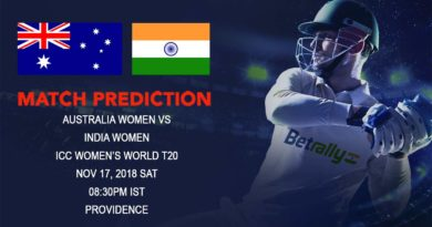 Cricket Prediction ICC Women's World T20 – Australia women clash against India women to determine Group B Topper – November 17, 2018