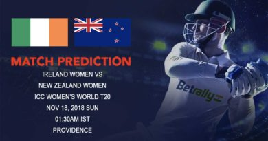 Cricket Prediction ICC Women's World T20 – New Zealand women hope to sign off with a thumping win – November 18, 2018