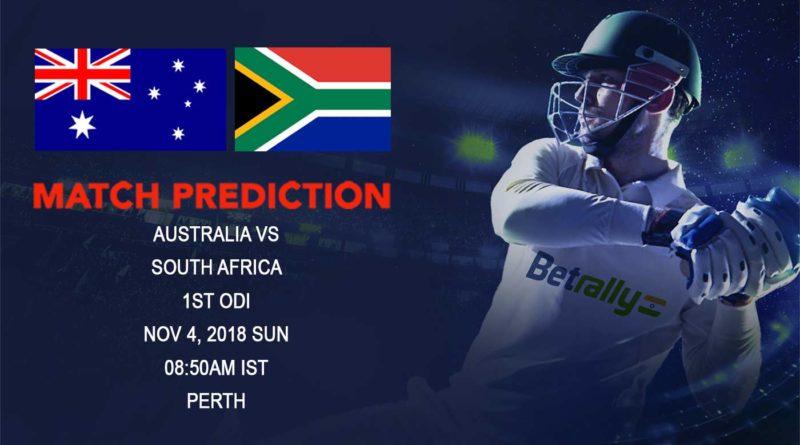 Cricket Prediction South Africa tour of Australia – South Africa take on struggling Australia in First ODI – November 4, 2018