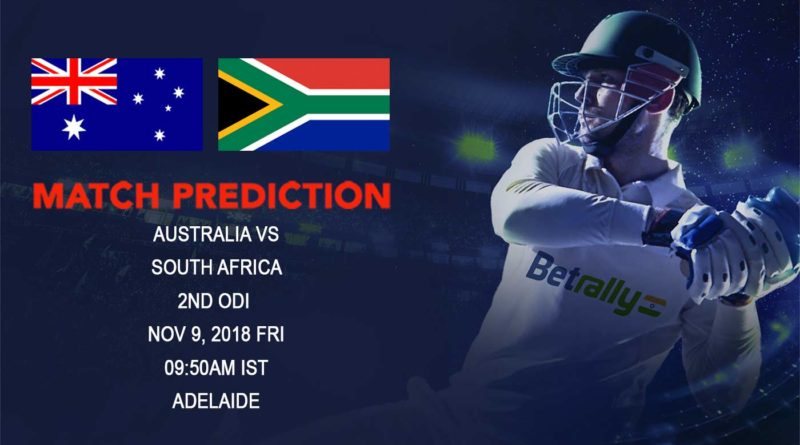 Cricket Prediction South Africa tour of Australia – South Africa look to seal the series against Australia in second ODI – November 9, 2018