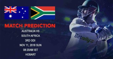 Cricket Prediction South Africa tour of Australia – Desperate Australia look to avoid second series loss at home – November 11, 2018