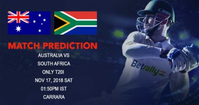 Cricket Prediction South Africa tour of Australia – Australia look to win the solitary T20 before India's arrival – November 17, 2018