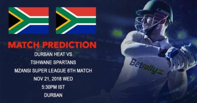 Mzansi Super League – Durban Heat take on Tshwane Spartans in their third game of the league – November 21, 2018