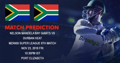 Mzansi Super League – Durban Heat take on Nelson Mandela bay Giants – November 23, 2018