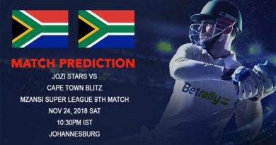 Cricket Prediction Mzansi Super League T20 – Jozi Stars face the stern challenge of Cape Town Blitz – November 24, 2018