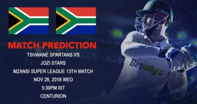 Cricket Prediction Mzansi Super League T20 – Spartans seek to go beyond the Stars – November 28, 2018
