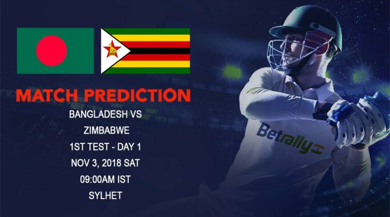 Cricket Prediction Zimbabwe Tour of Bangladesh 2018/19 – Zimbabwe have tough road ahead as they take on Bangladesh in First Test – November 3, 2018
