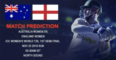 Cricket Prediction ICC Women's World T20 – Australia women and England women clash in a dream final – November 25, 2018