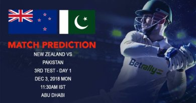 Cricket Prediction New Zealand tour of United Arab Emirates 2018/19 – An exciting decider in store as New Zealand take on Pakistan – December 3, 2018