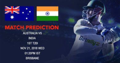Cricket Prediction India tour of Australia – India kick off Australian tour with first T20 International – November 21, 2018