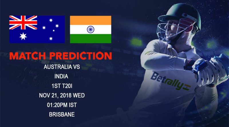 Cricket Prediction India tour of Australia – India kick off Australian tour with first T20 International – November 21, 2018