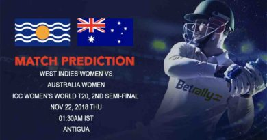 Cricket Prediction ICC Women's World T20 – West Indies and Australia women clash in the first semi-final – November 23, 2018