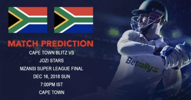 Cricket Prediction Mzansi Super League – Cape Town Blitz vs Jozi Stars – Cape Town Blitz take on Jozi Stars in the final of Mzansi Super League