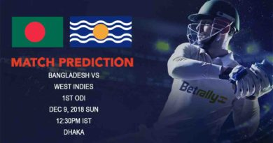 Cricket Prediction West Indies Tour of Bangladesh 2018/19 – Bangladesh and West Indies take on each other in the First ODI – December 09, 2018