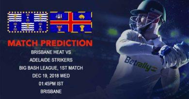 Cricket Prediction Big Bash League – Brisbane Heat vs Adelaide Strikers – Brisbane Heat and Adelaide Strikers kick off the Big Bash League