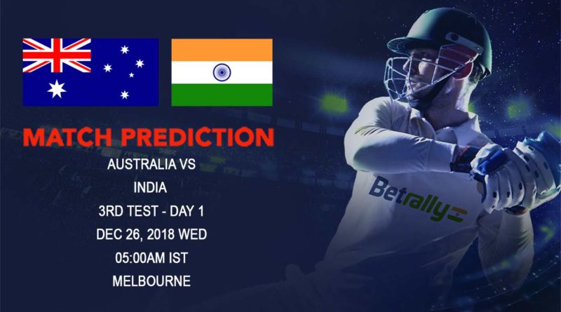 Cricket Prediction India tour of Australia – Australia vs India – India look to put Perth setback behind in the Boxing Day Test Match