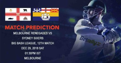 Cricket Prediction Big Bash League – Melbourne Renegades vs Sydney Sixers – Melbourne Renegades look to continue the winning momentum