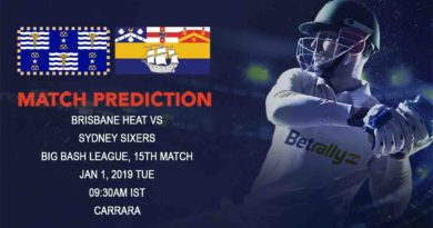 Cricket Prediction Big Bash League – Brisbane Heat vs Sydney Sixers – Brisbane Heat look for their first victory