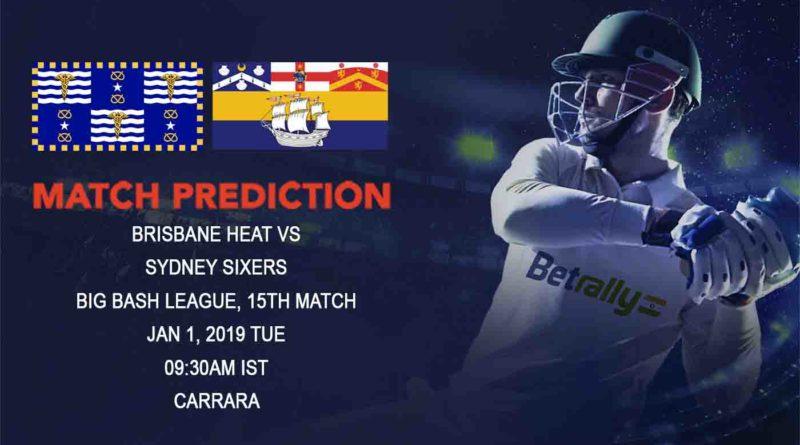 Cricket Prediction Big Bash League – Brisbane Heat vs Sydney Sixers – Brisbane Heat look for their first victory