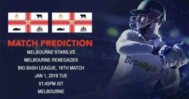 Cricket Prediction Big Bash League – Melbourne Stars vs Melbourne Renegades – Stars and Renegades clash in Melbourne Derby
