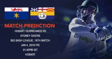 Cricket Prediction Big Bash League – Hobart Hurricanes vs Sydney Sixers – Unbeaten Hobart Hurricanes take on Sydney Sixers