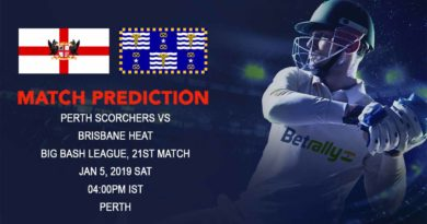 Cricket Prediction Big Bash League – Perth Scorchers vs Brisbane Heat – Struggling Scorchers and Heat look to break the losing streak