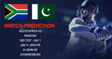 Cricket Prediction Pakistan tour of South Africa 2018/19 – South Africa vs Pakistan – South Africa look to seal the series against struggling Pakistan