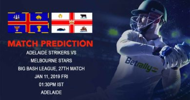 Cricket Prediction Big Bash League – Adelaide Strikers vs Melbourne Stars – Defending champions Adelaide Strikers take on Melbourne Stars in the battle of ascendency