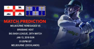 Cricket Prediction Big Bash League – Melbourne Renegades vs Brisbane Heat – Confident Renegades look to get past dangerous Heat